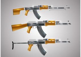 Vetores da forma da arma