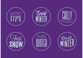 Vetores de crachá de inverno