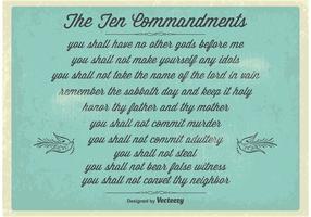 Cartaz dos dez mandamentos do vintage