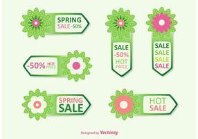 Vetores de etiqueta de desconto Spring