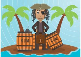 Ilustração vetorial pirata vetor