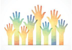 Vetor mãos-livres poligonal grátis