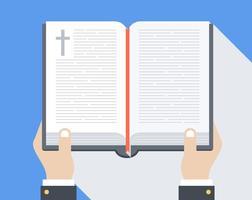 Vetor livre da Bíblia aberta