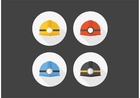 Capacete grátis com ícones vetoriais de luz vetor