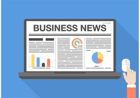 Gráfico de vetor de notícias de negócios grátis