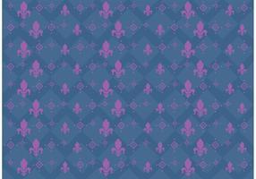 Vetor de padrão de flor de lis