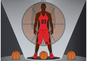 Vector de fundo de basquete