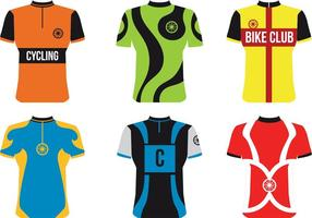 Vetores do Jersey do esporte da bicicleta