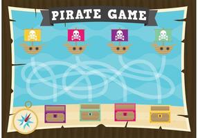 Jogo de jogo de piratas vetoriais vetor
