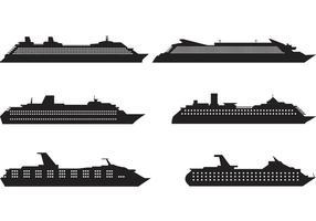 Vetores da Silhueta do Cruise Liner