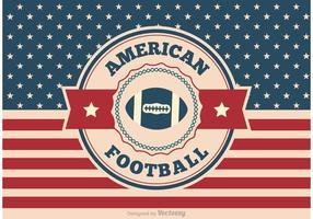 Ilustração do futebol americano vetor