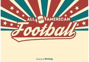 Ilustração do futebol americano