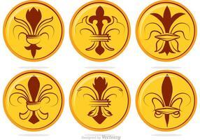 Vetores de emblemas da flor de lis