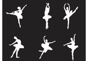 Dançarinos de balé de vetores