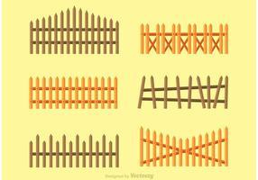 Vetores de vedação de madeira