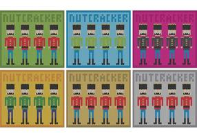 Têxtil de Nutcracker do vetor