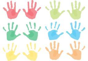 Impressões de mão infantil vetor