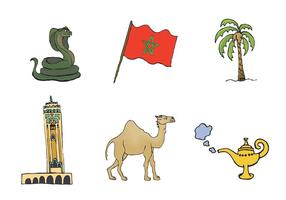 Série livre do vetor de Marrocos