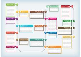 Cenários de texto Cronograma vetor