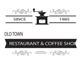 Logotipo do café / modelo de insígnia