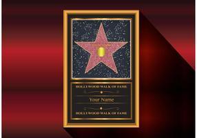 Estrela do vetor da caminhada da fama