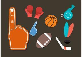 Ícones vetoriais de esportes vetor