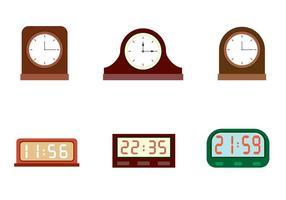 Relógios vetoriais gratuitos vetor