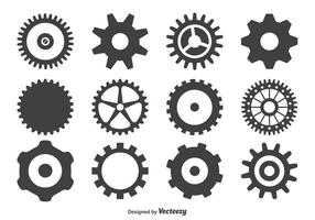 Conjunto de forma de roda de engrenagens vetor