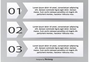 Caixas de texto numeradas vetor