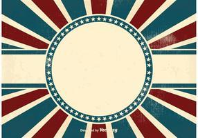 Fundo Patriótico Vintage vetor