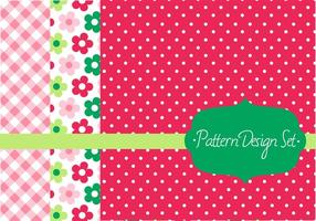 Conjunto de design de vetores de padrões retros