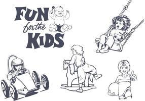 Diversão de vetores grátis para os projetos das crianças