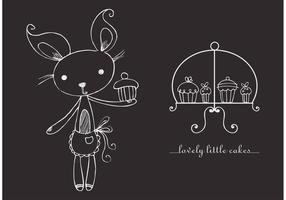 Cupcakes grátis para vetores com suporte