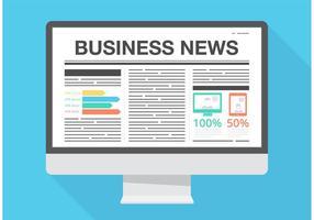 Notícias de negócios de vetores grátis