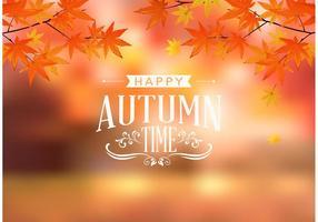 Vector de tipografia de outono feliz grátis