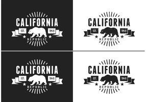 Logotipo retro do vetor do urso da Califórnia