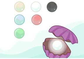 Pacote do vetor Shell da pérola