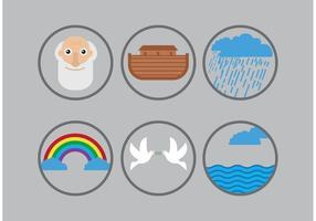Pacote de vetores do ícone da arca
