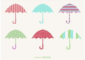 Guarda-chuvas de vetor chuvoso