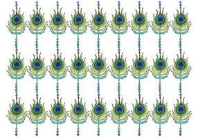 Vetor de padrão de pavão grátis