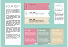 Caixa de texto vetor livre