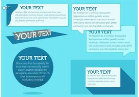 Caixa de texto azul vetores grátis