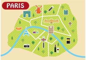 Vetor de mapa de paris