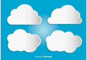 Nuvens de vetores modernos