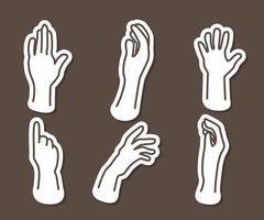 Vetores de ícones de contorno de mão