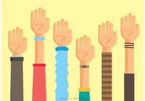 Coleção de vetores das mãos
