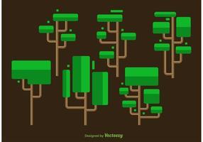Vetores da árvore mínima quadrados