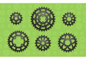 6 rodas dentadas de bicicleta de vetor