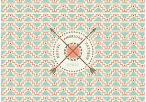Vector de padrão sem costura nativo americano