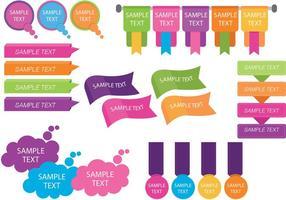Vetores coloridos do modelo da caixa de texto